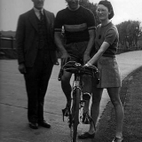 Tommy Godwin with Charlie Davey and Billie Dovey
